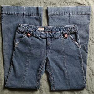 Free People Wide Leg Jeans Trousers Size 31